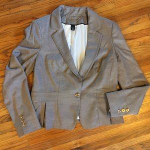 White House Black Market fitted grey blazer